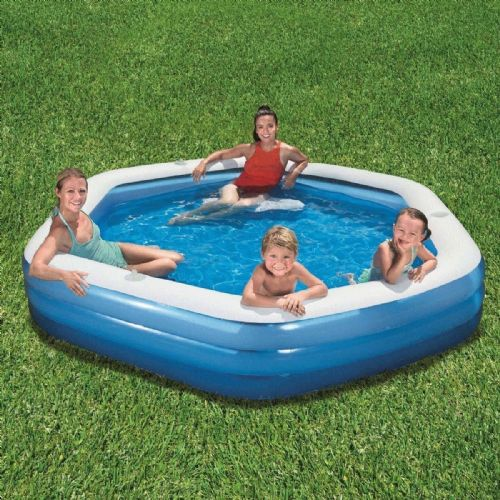 "BestWay 8ft 9"" (267 cm) Hexagon Family Lounge Pool Summer Outdoor"